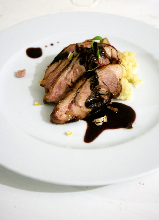 Duck with hibiscus mole